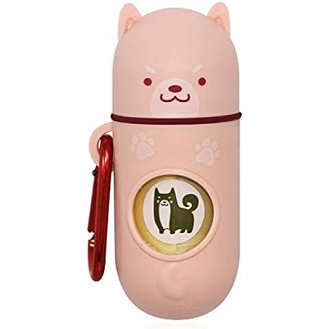 [Nature Comes] Sacchetti per gli escrementi del cane e dispenser (15 Sacchetti, biodegradabile profumato) Juliet