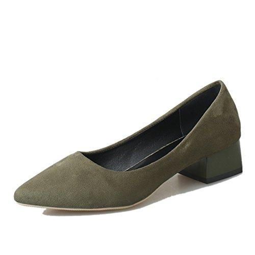 Rough printemps mode casual chaussures femme/pointue daim chaussures asakuchi pied/Chaussures femme B