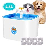 Best Fuentes de agua del gato - HOSPORT Fuente de agua de Flower Cat, 2.5L Review