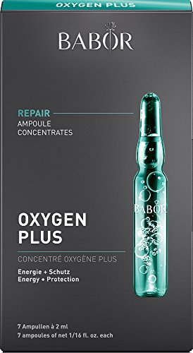 BABOR AMPOULE CONCENTRATES Oxygen Plus, Gesichtspflege für müde & gestresste Haut, Anti Aging Effekt, fördert Haut-Erneuerung,...
