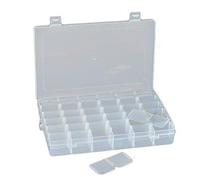 Vielfältige anpassbare Plastikaufbewahrungsschachtel mit 36 Fächern/ Schmuckkasten/ Werkzeugkasten - durchsichtig by TARGARIAN
