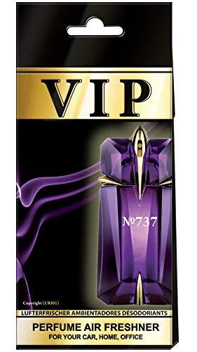 5 X caribi VIP Deodorante per auto, a casa o in ufficio con Parfume Profumo di №737 - Thierry Mugler A