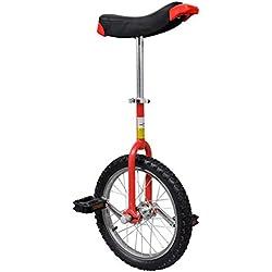 vidaXL Monocycle ajustable rouge 16 pouces pour enfants Monocycles Débutants