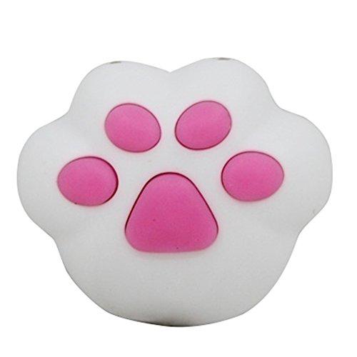 Bangle009Ausverkauf Kawaii Katze Paw LED Sound Schlüsselanhänger Ring Auto Handtasche Zum Aufhängen Decor Geschenk Spielzeug, Silikon, weiß (Insel-geschirrspüler)