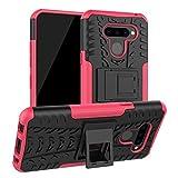 LFDZ Compatible with LG Q60 Case,Heavy Duty Tough Armour