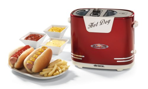 Ariete 186 Hot Dog Maker im 50-er Jahre Retrodesign, 650 W -