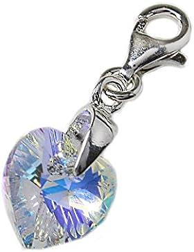 Herz-Charm, Silber 925, ideal für Thomas Sabo Armband oder Halskette
