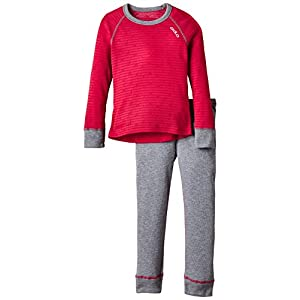 Odlo Kinder Funktionsunterwäsche Mädchen Set Warm Kids Shirt Long Sleeve Pants Long