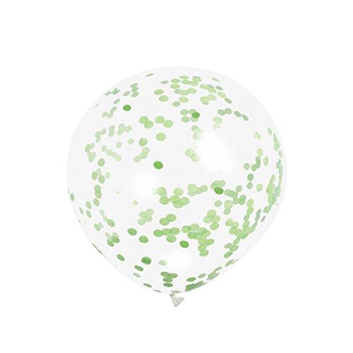 Unique Party 58119Luftballons, Confetti lime grün