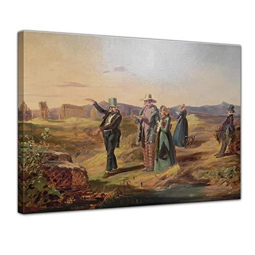 Bilderdepot24 Kunstdruck - Alte Meister - Carl Spitzweg - Engländer in der Campagna - 50x40cm...