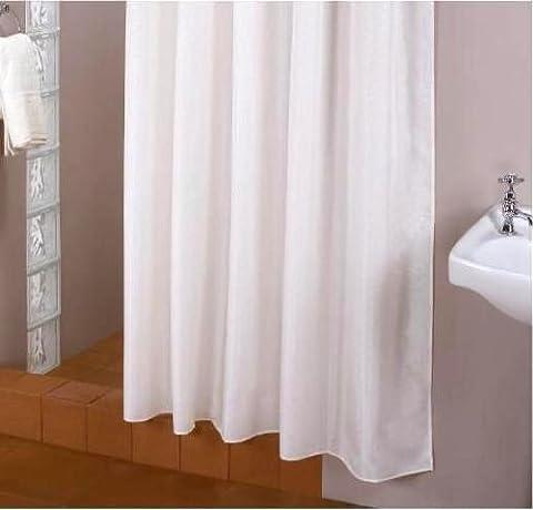 à rallonge! textile rideau de douche 220 large x 220 haut blanche à rallonge 220x220