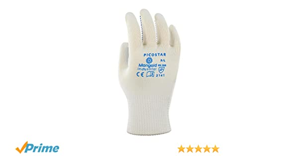 Taille 7 Blanc protection m/écanique Sachet de 12 paires Ansell Picostar Gants pour usages multiples