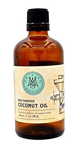 Ätherische Öle Sonnenschutz (Kokosöl Fraktioniert 100ml - 100% Reines, MCT Öl, Super als Massageöl, Haareöl, Hautöl, Geruchslos, Tierversuch Frei,)