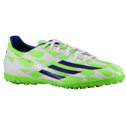 adidas F10 Performance Rasenfußball Grapa, Solar Rot/Weiß/Kern Schwarz, 7 m US, Weiß - weiß/blau/grün - Größe: 11 D(M) US - Männer Weiße Cleats