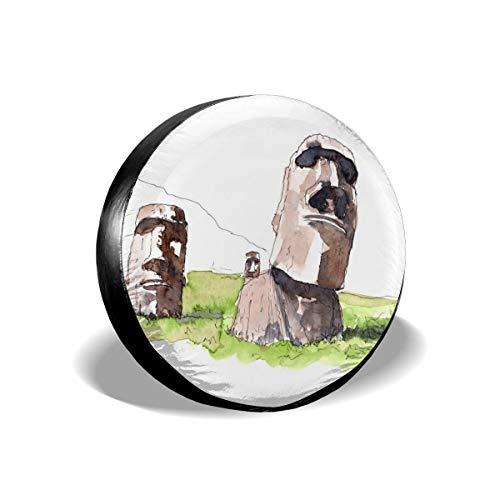 Aeeruen Moai Estatuas Repuesto neumáticos Protectores