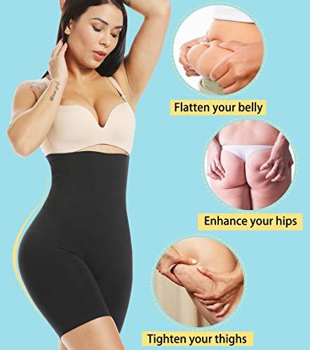 MISS MOLY Damen Figurenformend Miederpants Miederslip Bauch Weg Miederhose Hohe Taille Taillenformer Shapewear mit Bein 4X Stäbchen ShapePants Body Shaper - 2