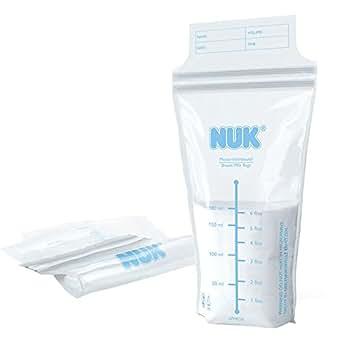 NUK TIGEX - Lot de 25 sachets de conservation pour lait maternel