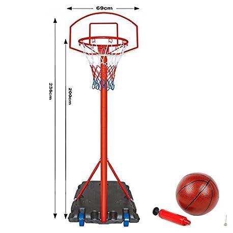 Gen rico Juego de soporte de pared con ruedas para baloncesto de pie soporte ajustable con red H Hoop ing Ba Set