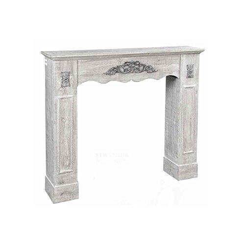 Gicos cornice camino struttura in legno stile anticato cm 110 x 23 x 94