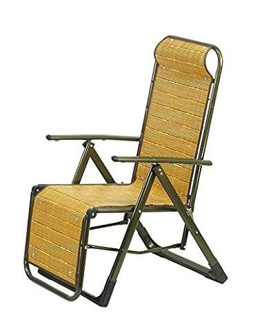 WYF-Meubles de salon Chaise pliante inclinable Siesta Office Couch Sandy Beach Loisirs Bamboo Nap WYF-chaise
