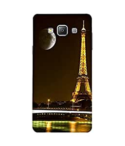 Moon And Eiffel Samsung Galaxy A7 Case