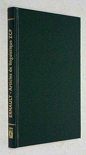 Articles de linguistique bretonne : Parus dans Zeitschrift für celtische Philologie, 1897-1901 (Bibliothèque bretonne)