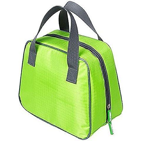 Listen2U Pranzo Borsa Lunch Bag Impermeabile Grande Capacità Panno di Oxford con Doppia Cerniera Possono due 21 * 10.5 * 7.5cm Scatole