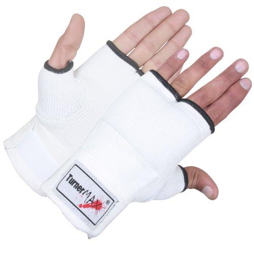 TurnerMAX Kampfsport-Innenhandschuhe, elastisch Weiß weiß M