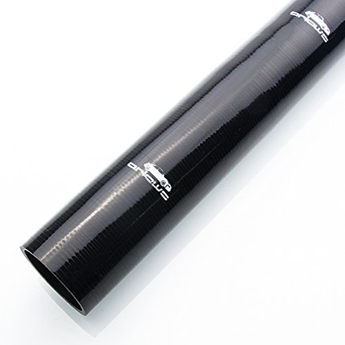 Preisvergleich Produktbild Ø 25mm 1 Meter Silikon Schlauch ( Schwarz ) Meterware Verbinder