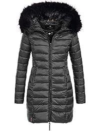 Marikoo ROSE-110 Damen Mantel Jacke Steppjacke Winterjacke lang gesteppt Übergang XS-XXL 12-Farben