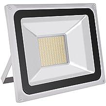 Foco proyector LED 20W/30W/50W/100W/150W/200W/300W/500W/800W para exteriores, 1000LM-56000LM, Blanco frio 6000-6500K resistente al agua IP65, luz amplia, luz de seguridad Floodlight (100)