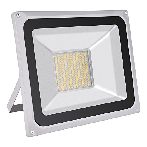 100W LED Flood Light, Outdoor Spotlight, Daylight White(6000-6500K), Waterproof, AC 200-240V, Security Lights, Super Bright, 7000LM