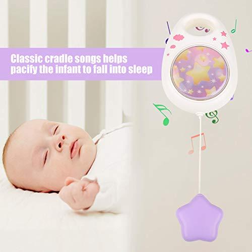 Zerodis- Caja de música de Dibujos Animados Canciones de Cuna Clásico Movimiento de Cuerda Juguetes de Aprendizaje Musical Juguete Promueve el Desarrollo temprano para niños (Purple)