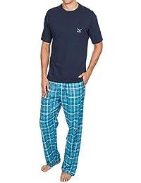 Best Deals Direct UK Mens Pyjamas Set Short Sleeve Top   Woven Long Bottoms  Pants f0e1f5dc9