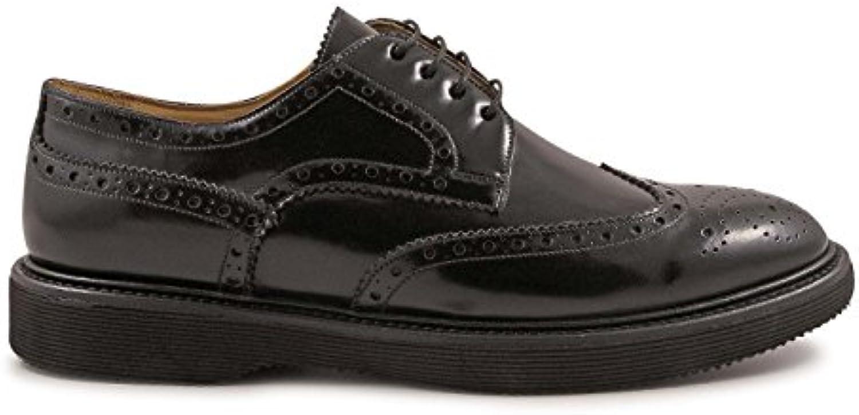 LEONARDO SHOES Hombre 4762Spazzolatobordeaux Burdeos Cuero Zapatos De Cordones -