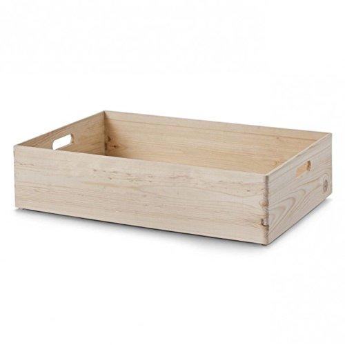 Mystylewood Holz Stapelbox Mehrzweckbox Holzkiste stapelbar Aufbewahrungsbox Stapelkiste NEU 30x20x14 -