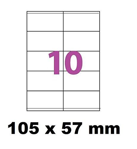 photo 5000 Étiquettes 105 x 57 mm soit 500 feuilles de 10 Étiquettes blanches adhésives personnalisables . étiquettes 10.5 x 5.7 cm autocollantes pour imprimante jet d'encre et Impression laser .étiquette utilisable sur logiciels avec code Herma 4425 ou AVERY Zweckform 3425