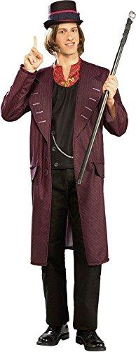 Willy Wonka Herrenkostüm, (Fabrik Die Kostüme Willy Wonka Und Schokolade)