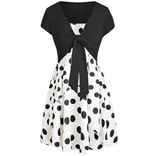 FeiBeauty Damen Sommer Sexy Sling,Beiläufige Sommer-Art und Weise Frauen SleevelessPrinted Floral Cami Flower Dress Boho Strandkleid -