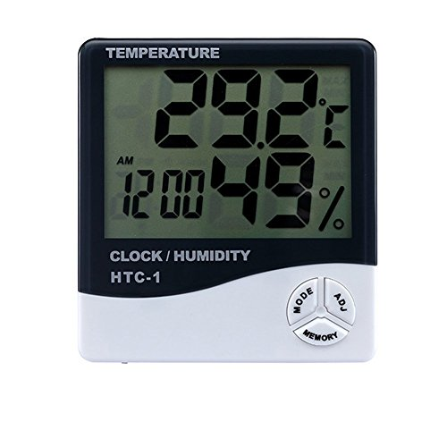 Far Vision Digital Temperature Humidity Thermometer Home Comfort Monitor Indoor Outdoor Meter with Alarm Clock Wall Mount or Table Top . ON SALE NOW !  available at amazon for Rs.399