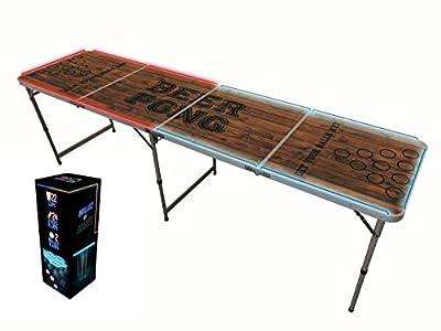 Original Cup - Table Beer Pong Officielle Version Lightkit - Pack Beer Pong - 1 Table Beer Pong Lumineuse + Light Kit (22 Gobelets + 24 Bâtons Lumineux + 2 Balles Beer Pong)