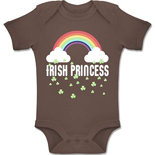 Shirtracer Anlässe Baby - Irish Princess - 3-6 Monate - Braun - BZ10 - Baby Body Kurzarm Jungen Mädchen (Oma Kostüme Irland)