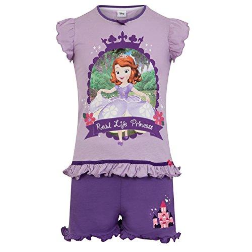 Disney Sofia die Erste - Mädchen Schlafanzug - kurz - Offizielles Merchandise - Geschenk für Kleinkinder - 3-4Jahre