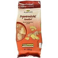 Alnatura Bio Trockenfrucht Ingwerwürfel, kandiert, vegan, 6er Pack (6 x 100 g)