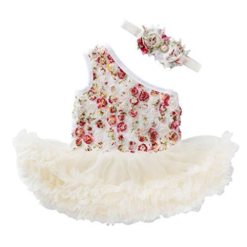(Mädchen Kleider,BaZhaHei Kleine Valentinstag Rose Schulter Kleid Tutu Netzrock Zweiteiliges Set Passen Mädchen Denim Prinzessin Tutu Kleid Für Hochzeitsfestparty-Fotoshooting)