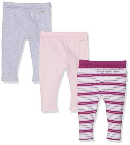 y Lila Gestreift-rosa-grau Im 3er Pack Leggings, Violett (Sortiert 999), 50 (Herstellergröße: 50/56) (erPack 3 ()