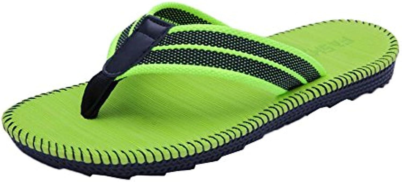 Casa Casual Verde y al aire libre Flip Flops Hombre Zapatillas  -