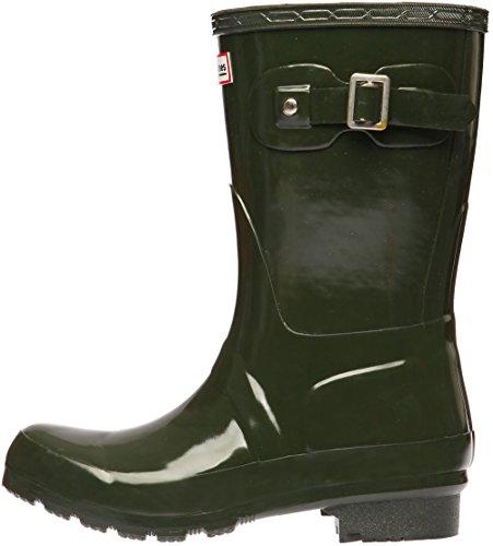 Paperplanes - 1193–1 tendance centrale de bottes de pluie Wellington Bottes en caoutchouc pour femme Vert - Vert olive foncé