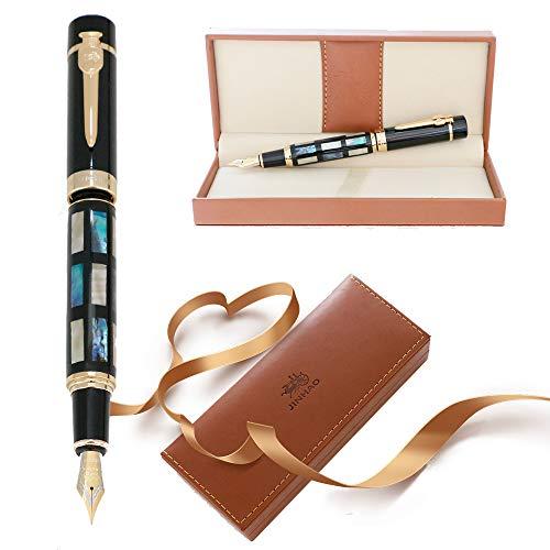 Jinhao Pluma estilogr/áfica 189 Set de regalo de lujo Fine Nib caligraf/ía pluma de tinta