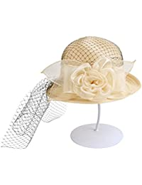 Beach Sun Hat Summer Eugen Yarn Hat Mysterious Net Yarn Sun Hat European Retro Hat Foldable Sunscreen Soft and comfort